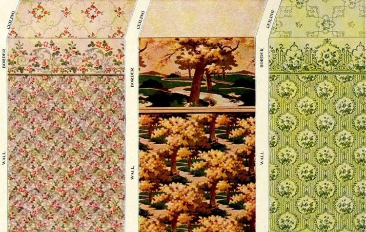 Vintage wallpaper samples from c1910 (2)