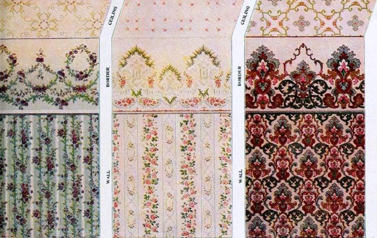 Vintage wallpaper samples from c1910 (3)