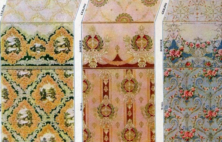 Vintage wallpaper samples from c1910 (4)