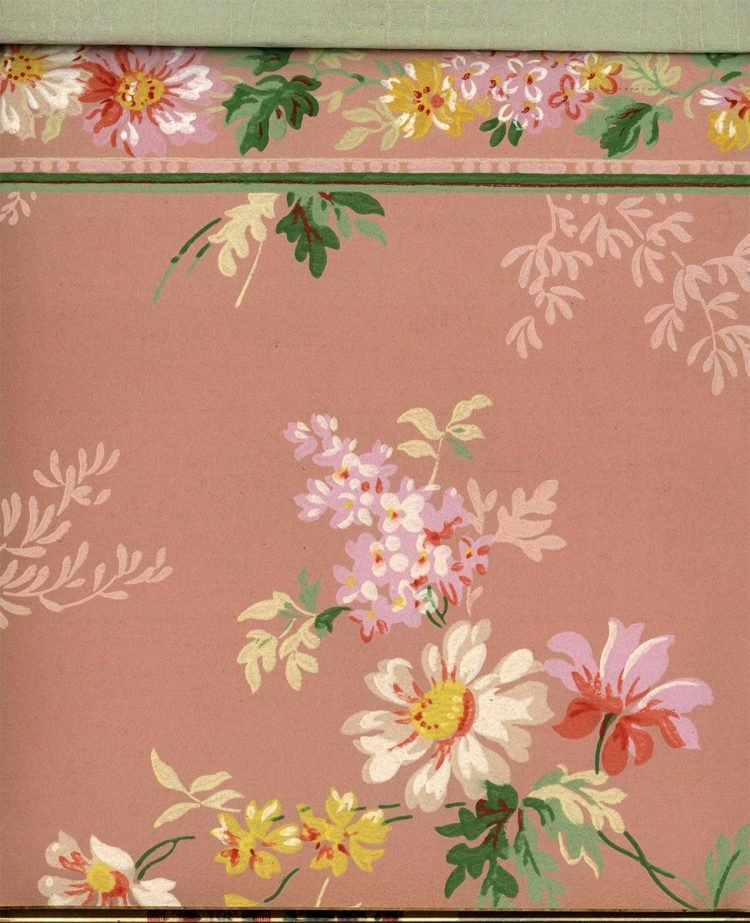 Vintage wallpaper styles from 1940 - Sears catalog (13)