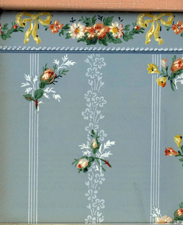 Vintage wallpaper styles from 1940 - Sears catalog (15)