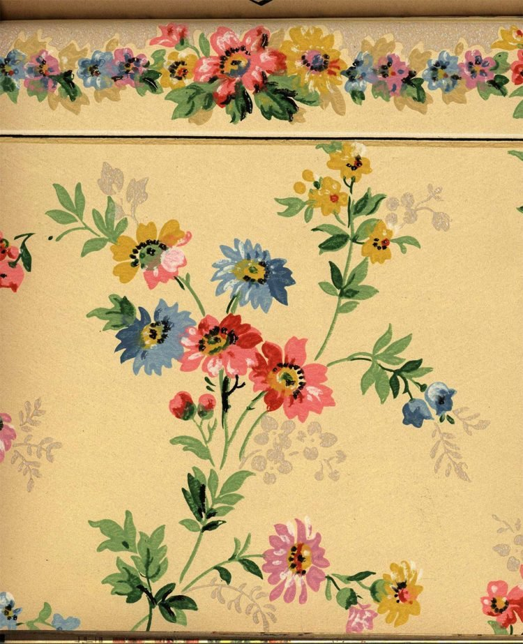 Vintage wallpaper styles from 1940 - Sears catalog (17)