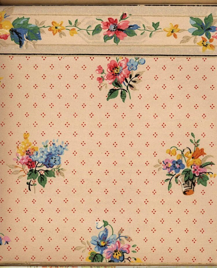Vintage wallpaper styles from 1940 - Sears catalog (21)