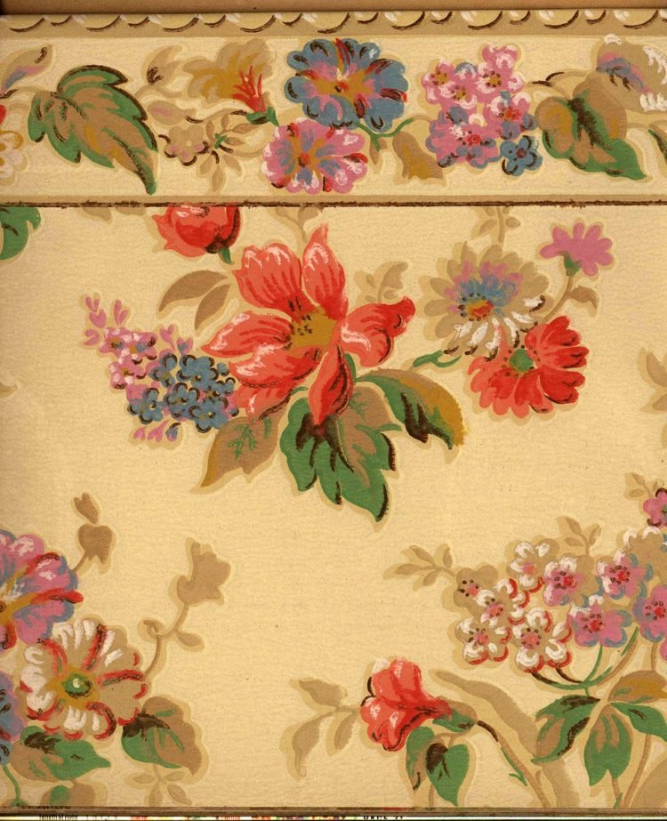 Vintage wallpaper styles from 1940 - Sears catalog (25)