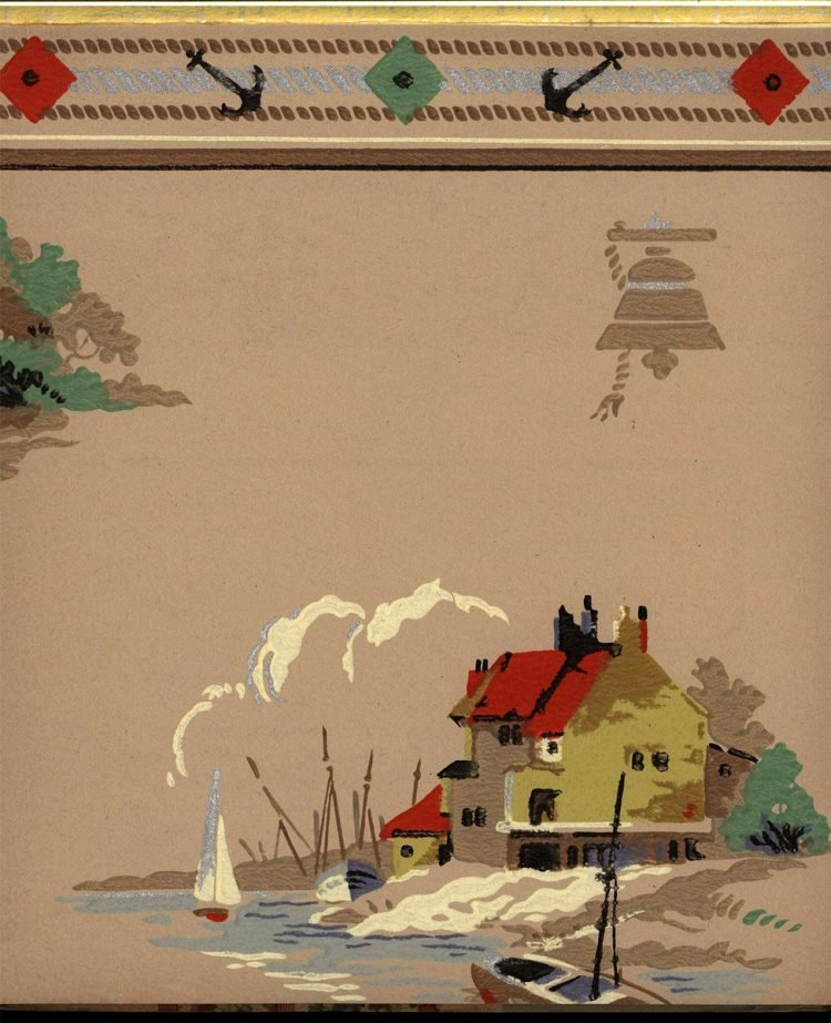 Vintage wallpaper styles from 1940 - Sears catalog (6)