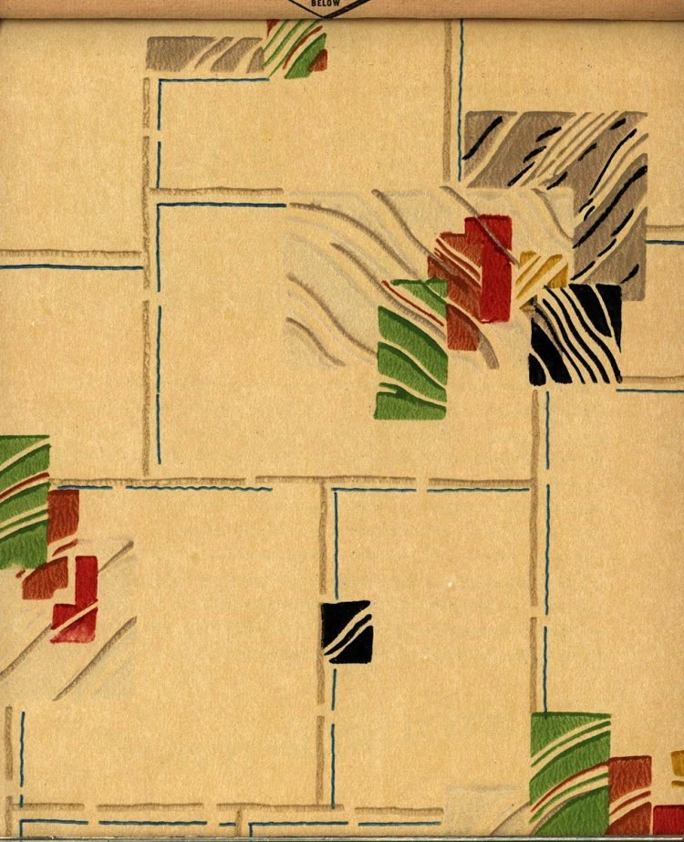 Vintage wallpaper styles from 1940 - Sears catalog (71)