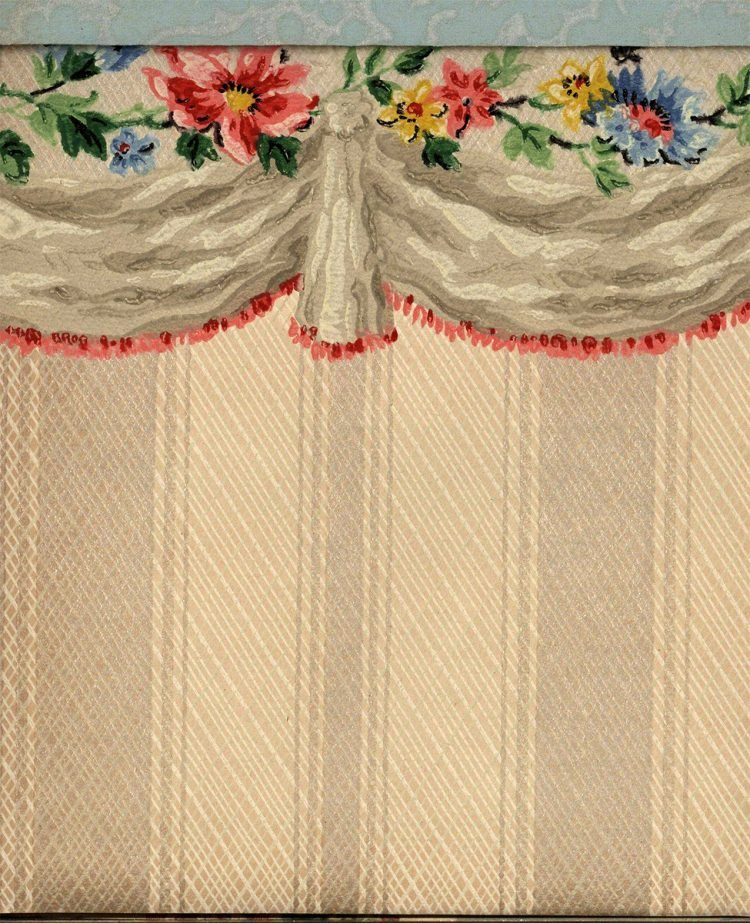 Vintage wallpaper styles from 1940 - Sears catalog (8)