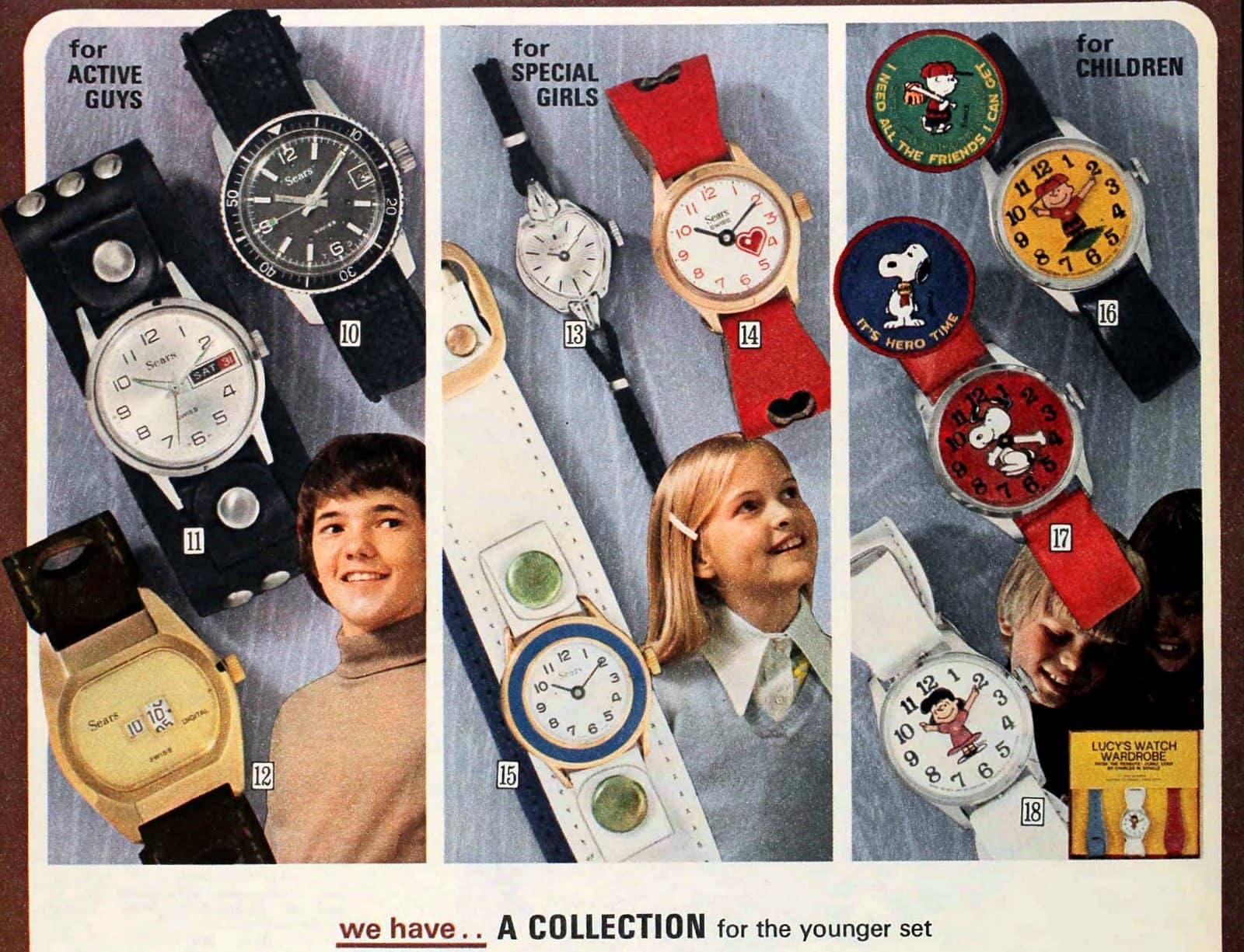 Vintage watches for kids (1974)