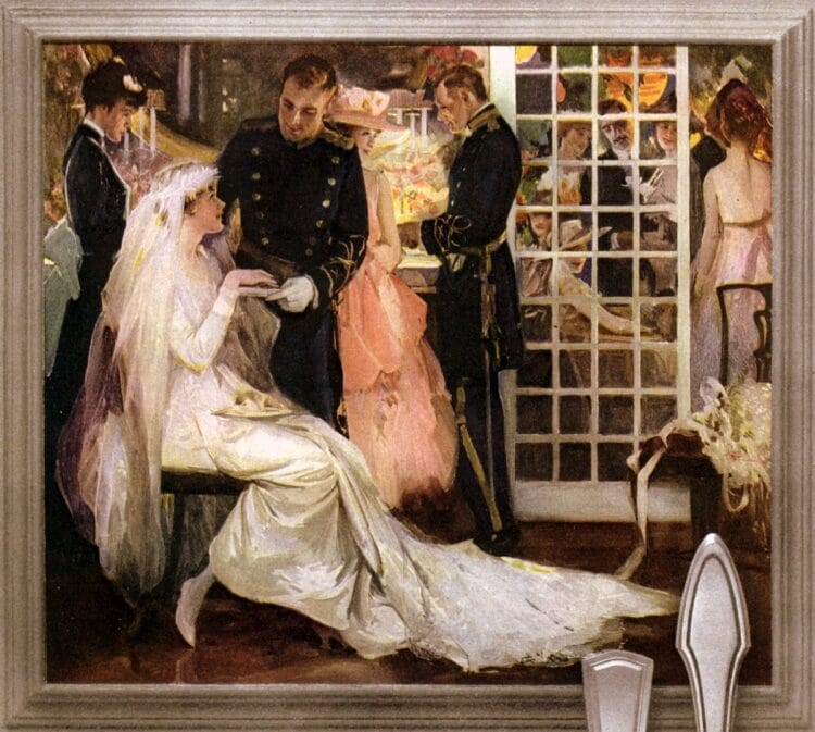 Bride and groom from 1916