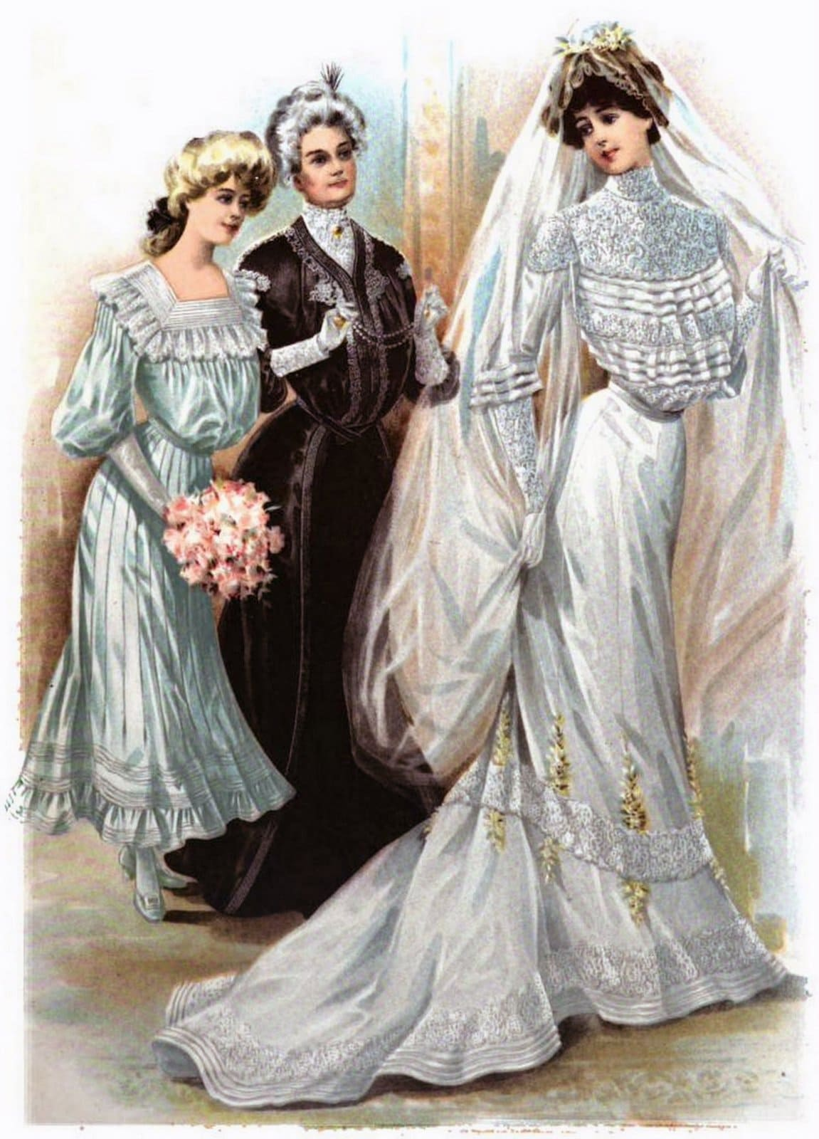 Vintage wedding dress from 1902