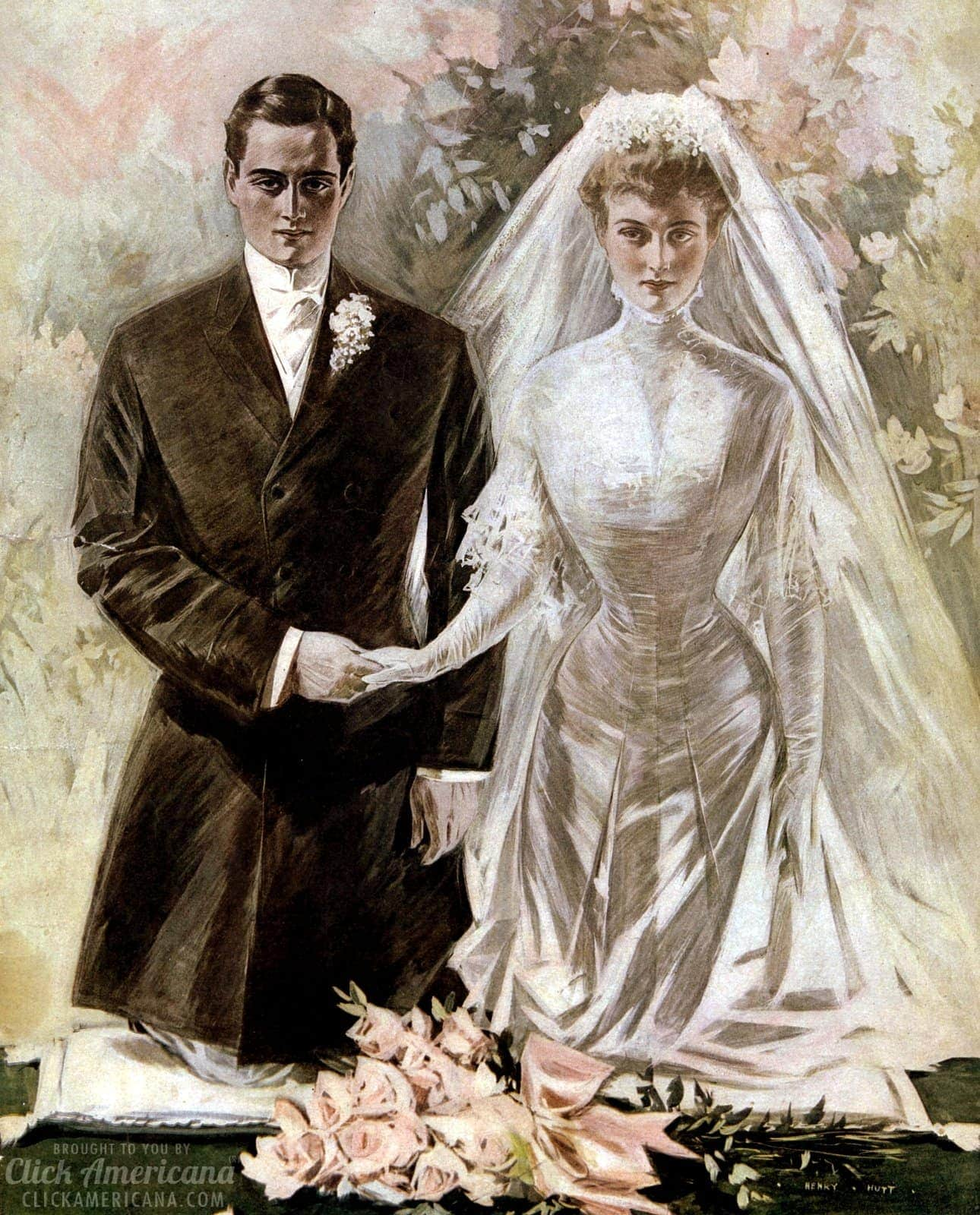 Vintage wedding dresses from the early 1900s