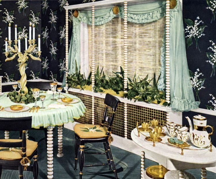 Home decor and Vintage window coverings from the '50s