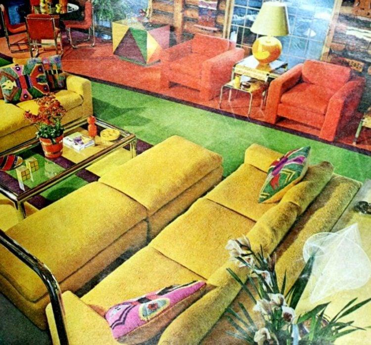 Vintage winging seventies sofas (1)