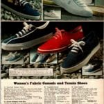 Vintage women's fabric casuals and tennis shoes from the 70s