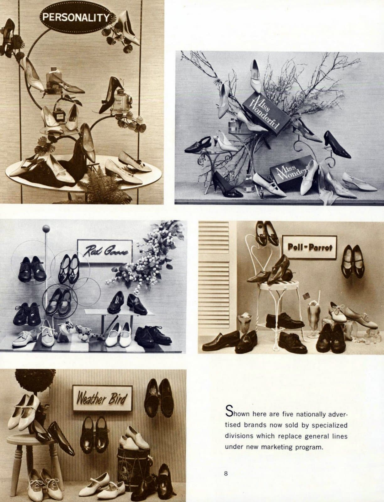 Vintage women's shoe displays (1964)