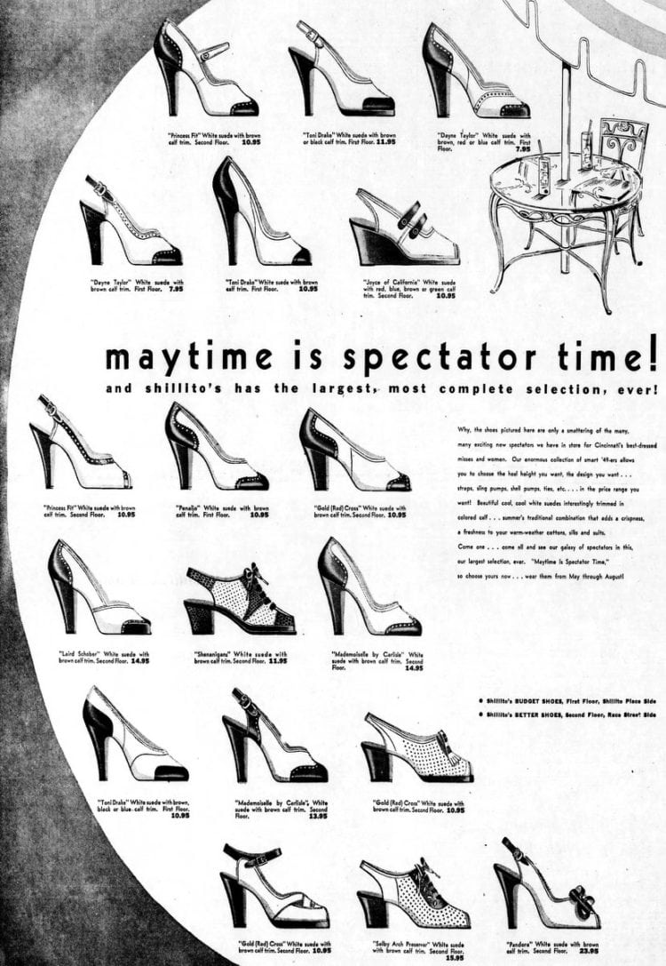 Maytime sale - various shoe brands (1949)