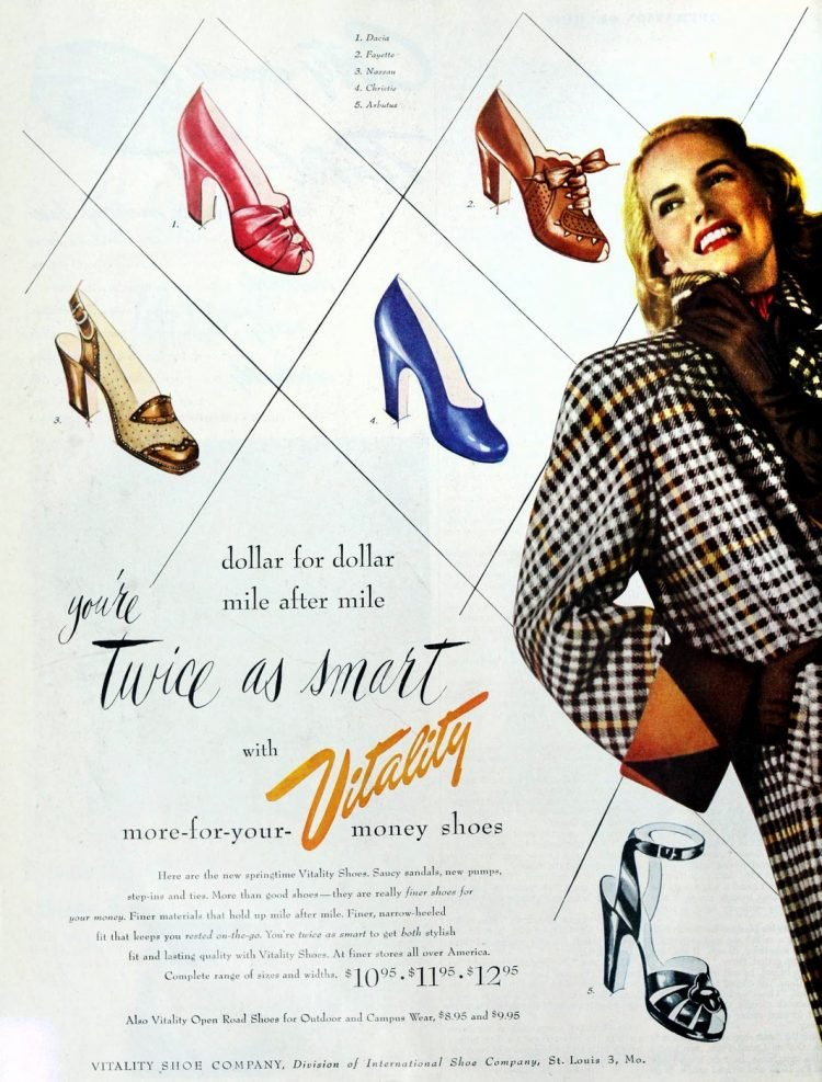 Vintage women's shoes from the 40s - 1949 (1)