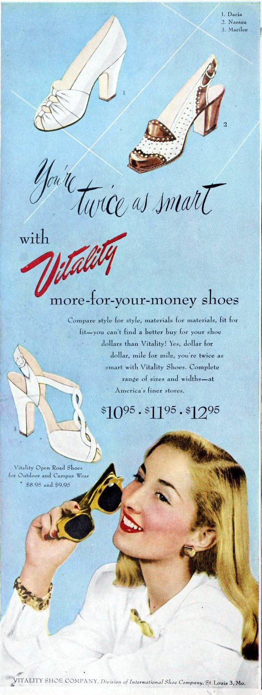 Vintage women's shoes from the 40s - 1949 (3)