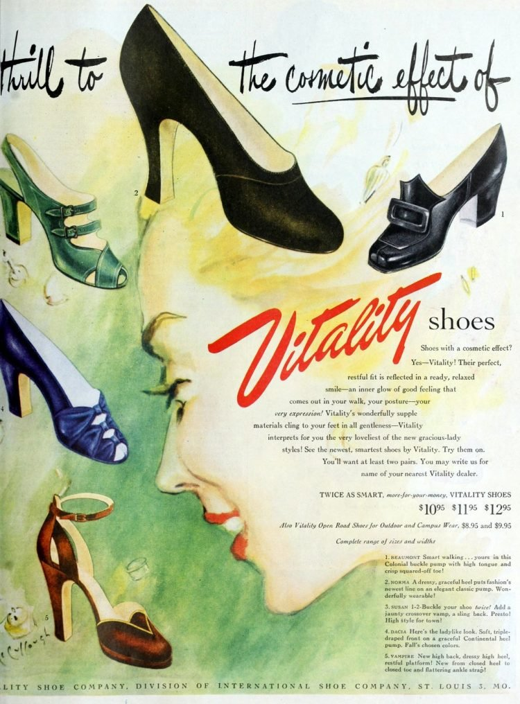 Thrill to the cosmetic effect of Vitality shoes (1949)