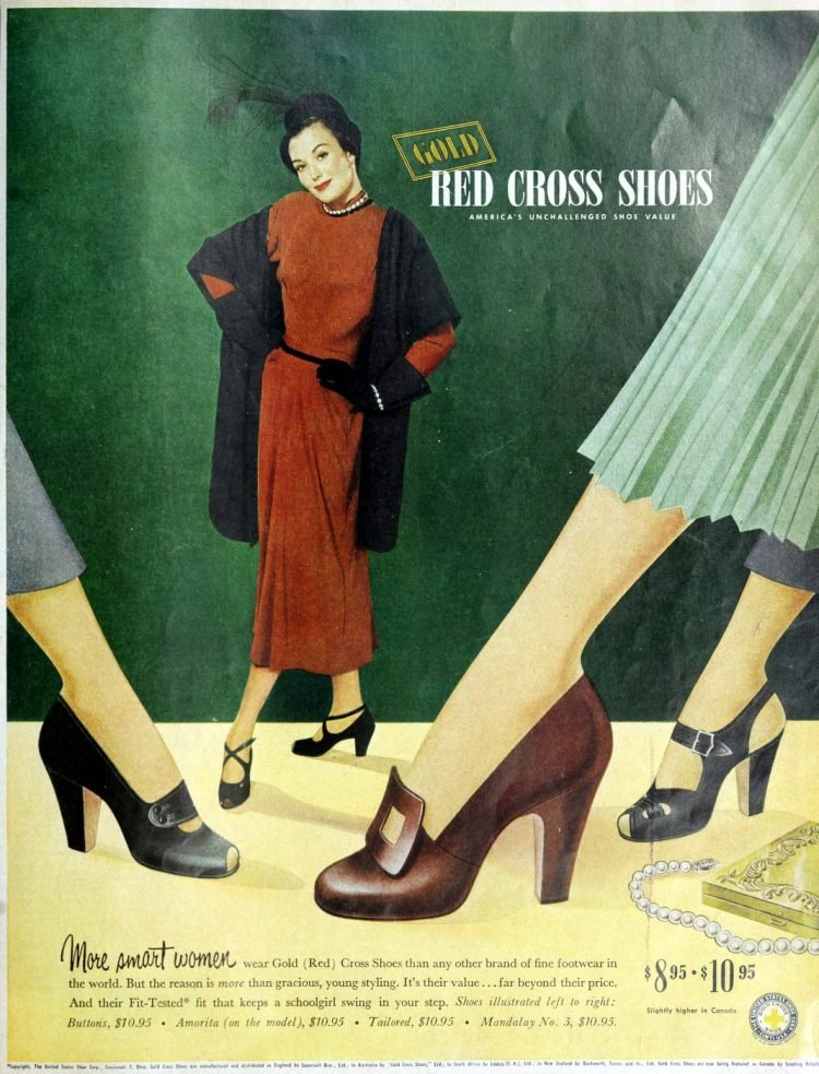 Gold Cross shoes -- America's unchallenged shoe value (1949