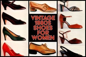Vintage women's shoes from the 80s