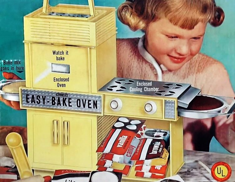 Vintage yellow Easy Bake Oven - 1960s