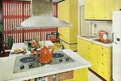 Vintage yellow kitchen