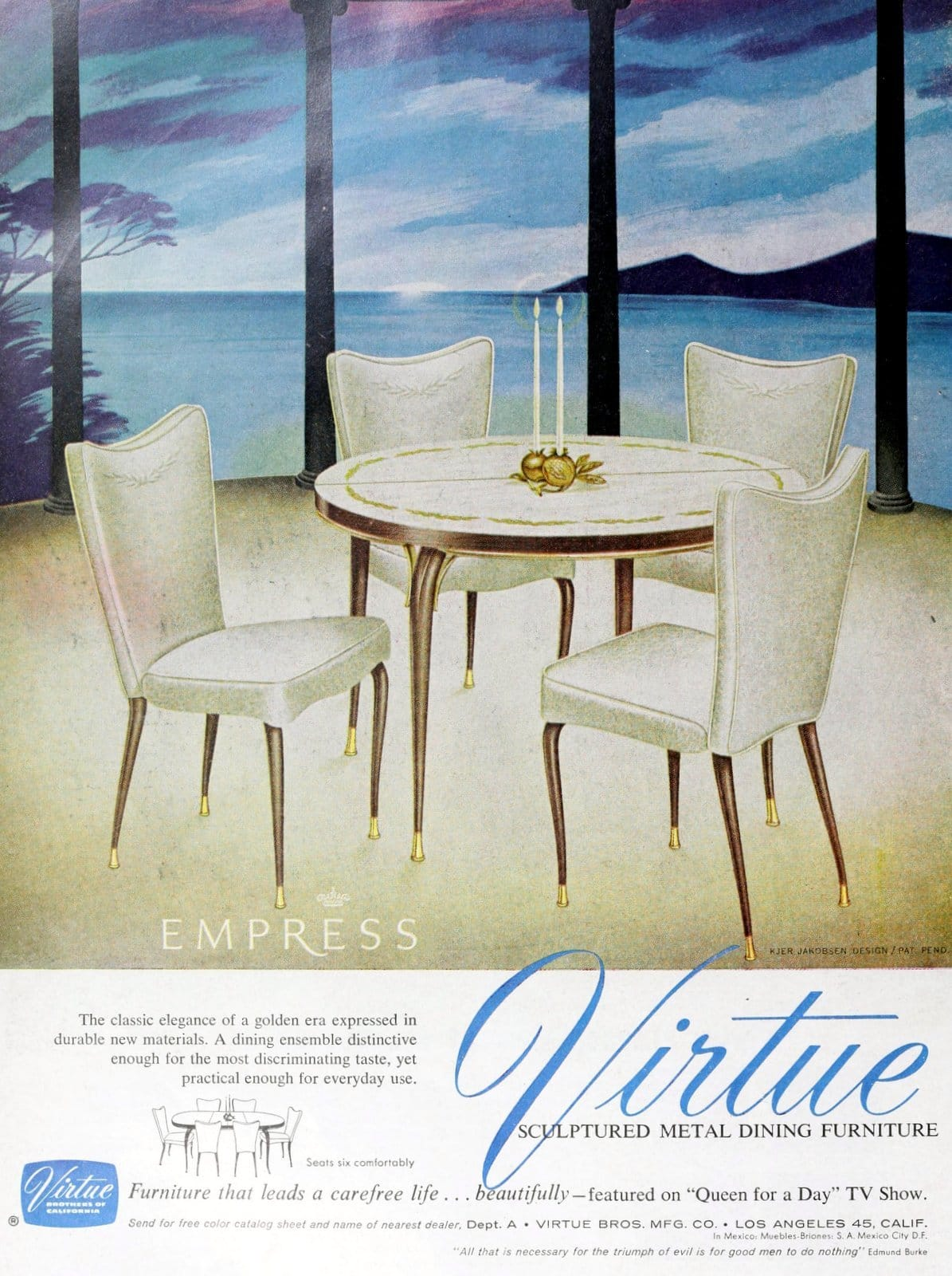 Virtue Bros Empress furniture - Kjer Jakobsen dining table and chairs (1960)