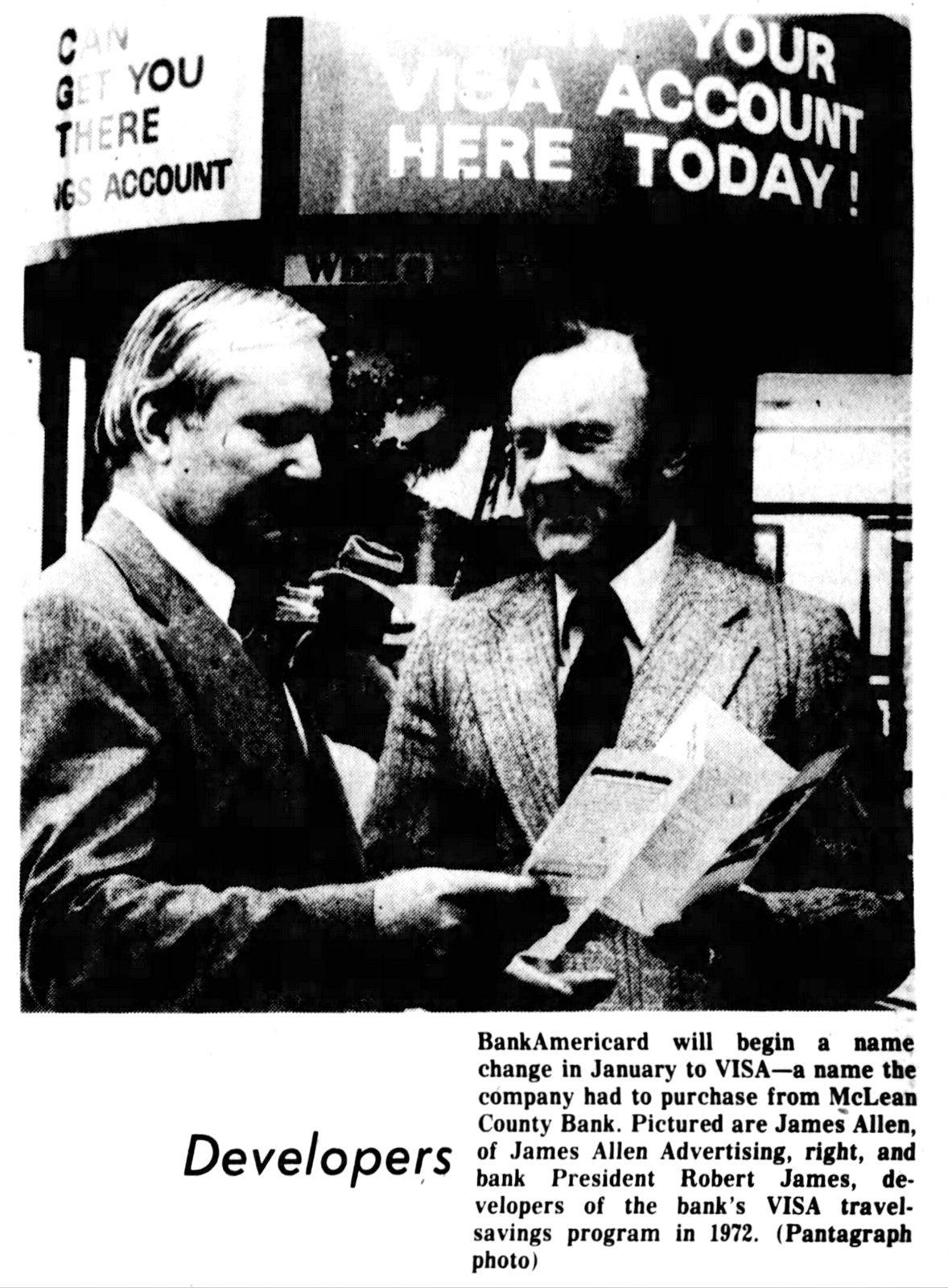 Visa passport to bank windfall (1976)