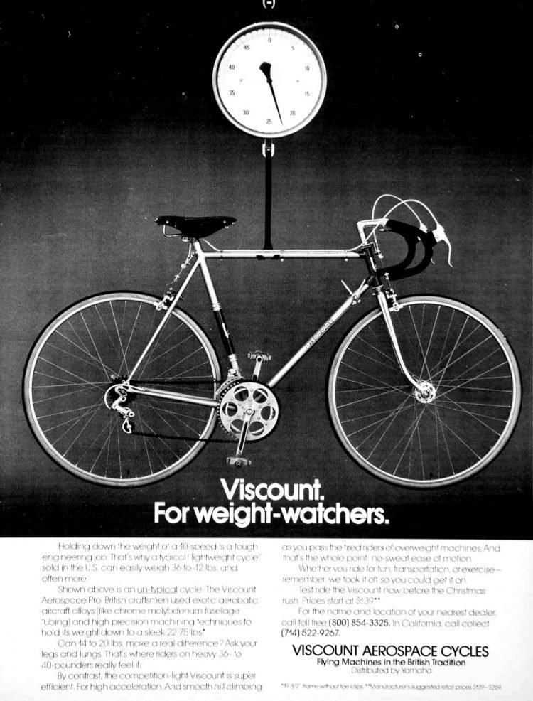 Viscount Aerospace Cycles - Bicycles 1970s
