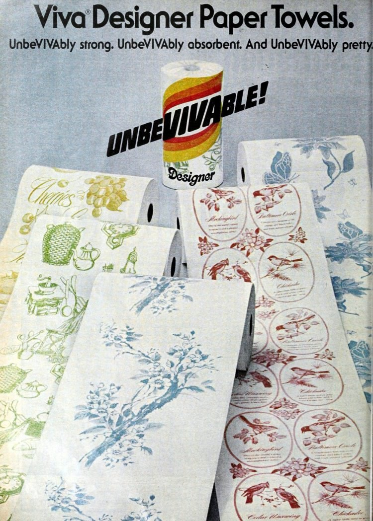 Viva designer paper towels - Patterns from 1979