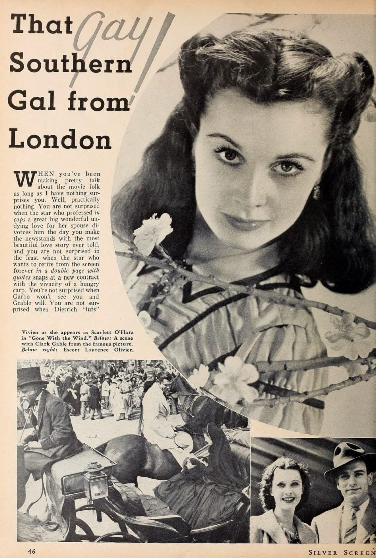 Vivien Leigh - That southern gal from London 1940