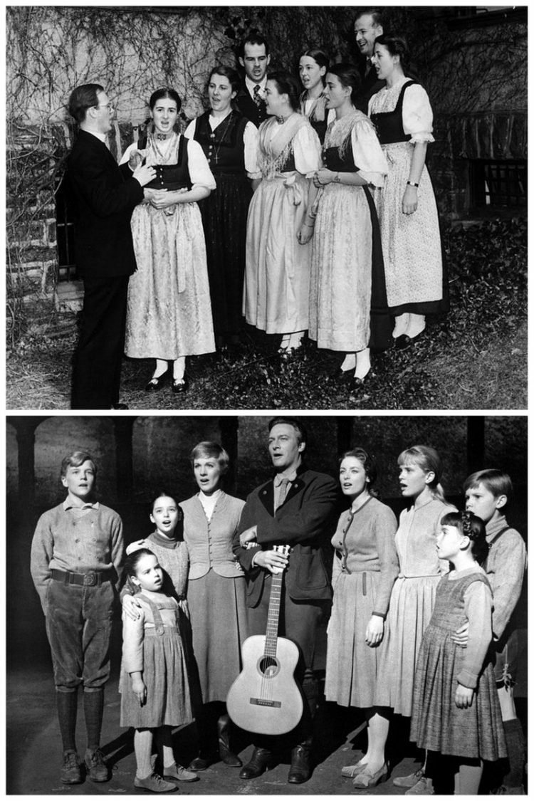Von Trapp Family Singers and The Sound of Music movie cast