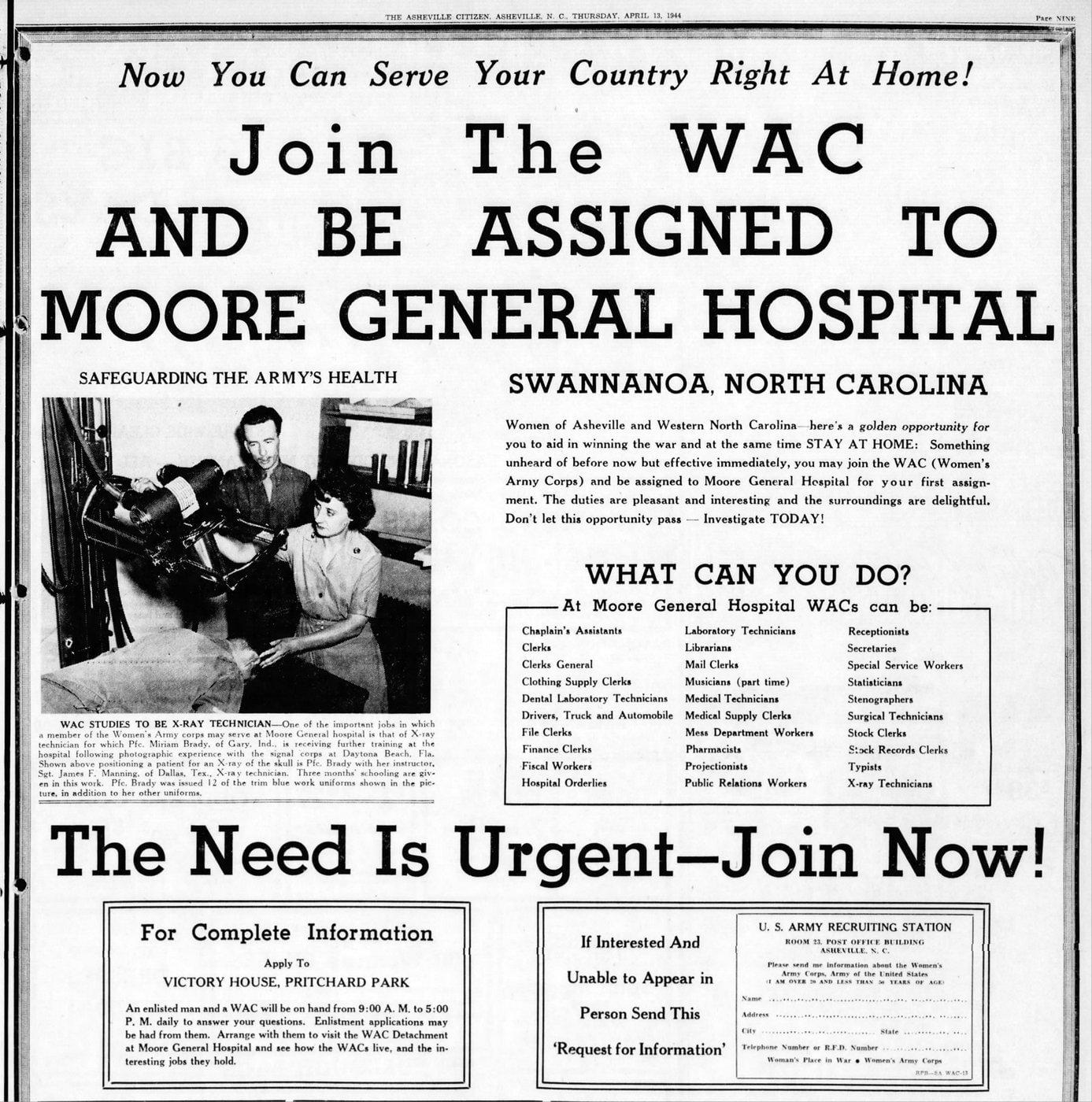 WAC - Asheville NC - April 1944