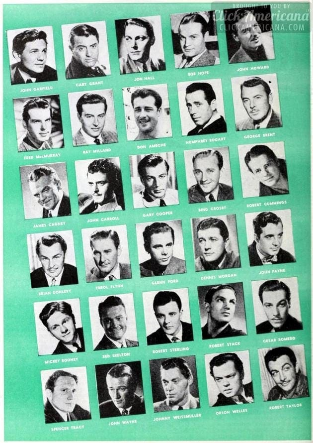 WW2 Hollywood deferments actors 1942