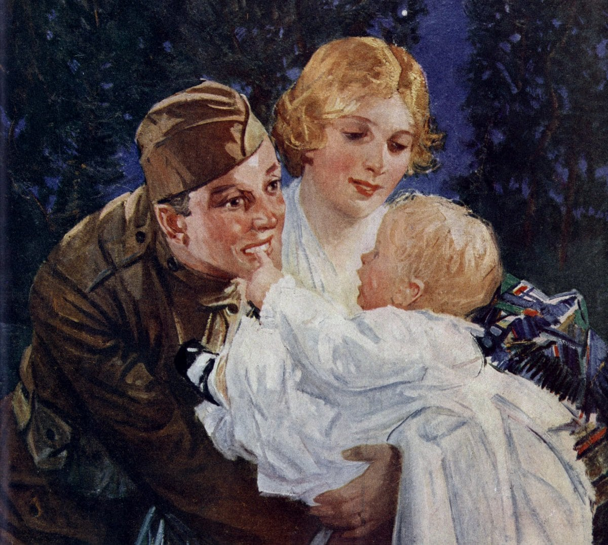 WWI dad baby war