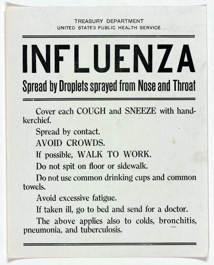 WWI influenza warning sign