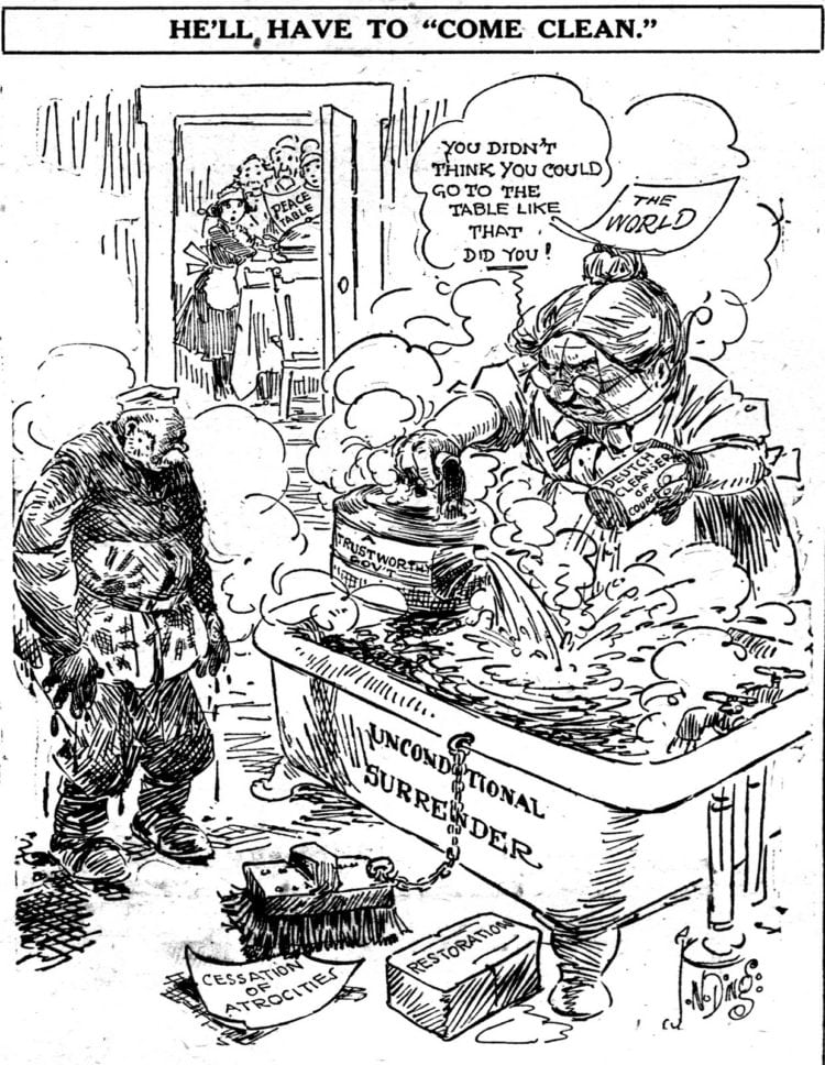 WWI political cartoon Oct 1918