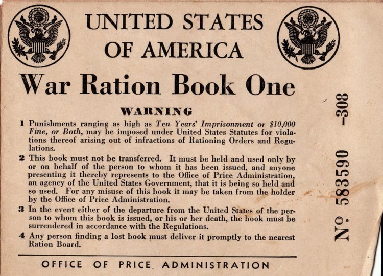 WWII Ration book one - Florida (2)