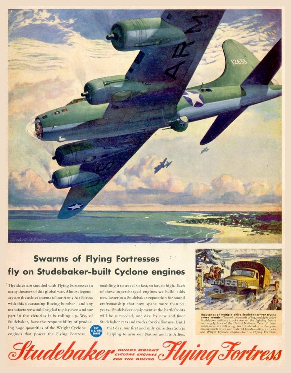 WWII - Swarms of Flying Fortress planes (1943)