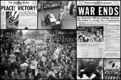 WWII VJ Day celebrations Victory - and peace - at last after Japan surrenders (1945)
