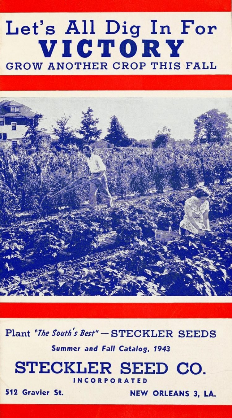 WWII Victory gardens - Steckler Seed Co 1940s