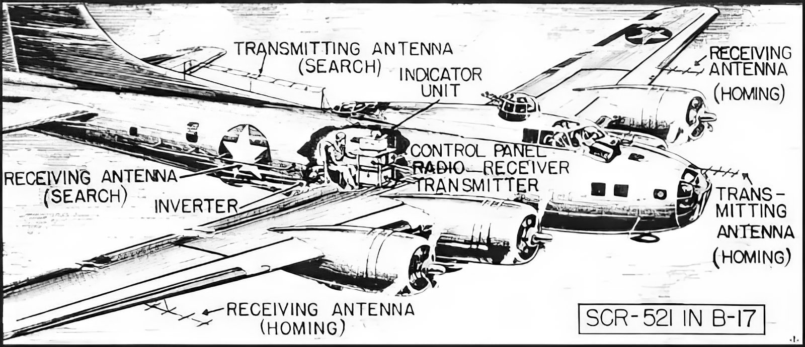 WWII plane - Flying Fortress B-17 radar tactical info (1)