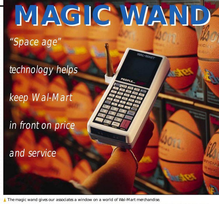 Wal-Mart Magic Wand tech in 1997