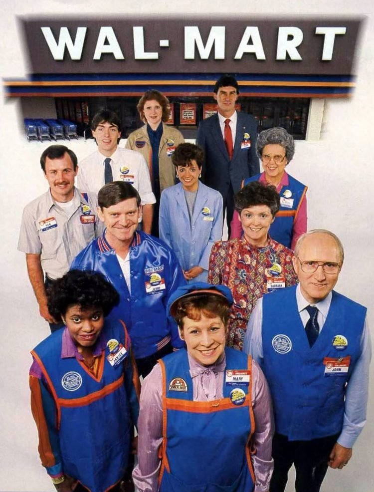 Wal-Mart employees in the 80s