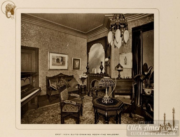 Waldorf Hotel East India Suite - Drawing room - 1903
