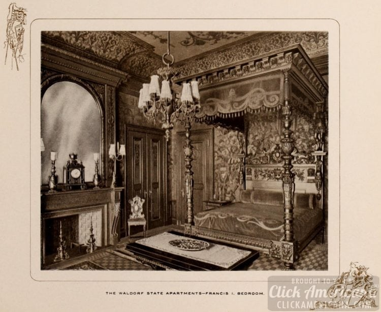 Waldorf State Apartments - Francis I bedroom - 1903