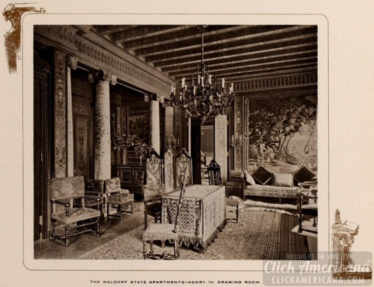 Waldorf State Apartments - Henry IV drawing room - 1903
