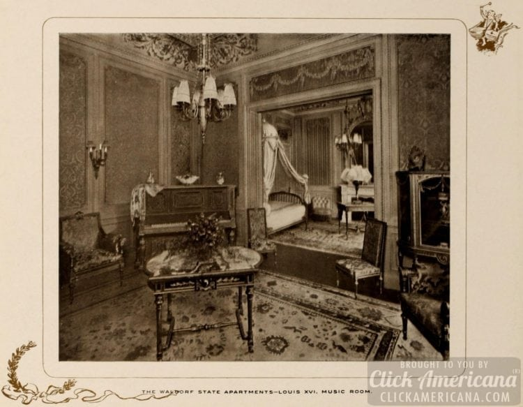Waldorf State Apartments - Louis XVI - Music room - 1903