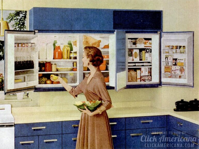 Wall-mounted refrigerator GE 1956
